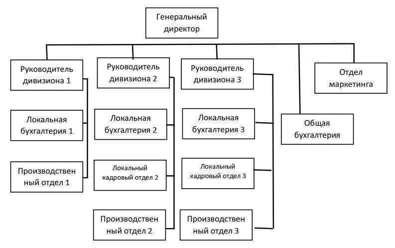 Дивизиональная структура организации