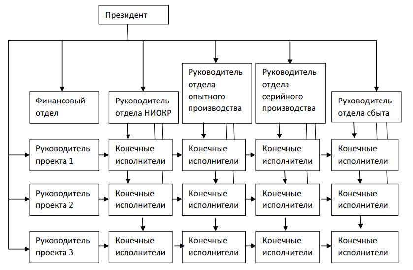 Матричная структура организации
