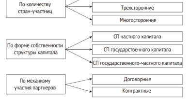 Классификация совместных предприятий по разным признакам и видам