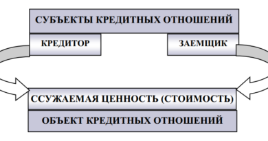 Структура кредитных отношений