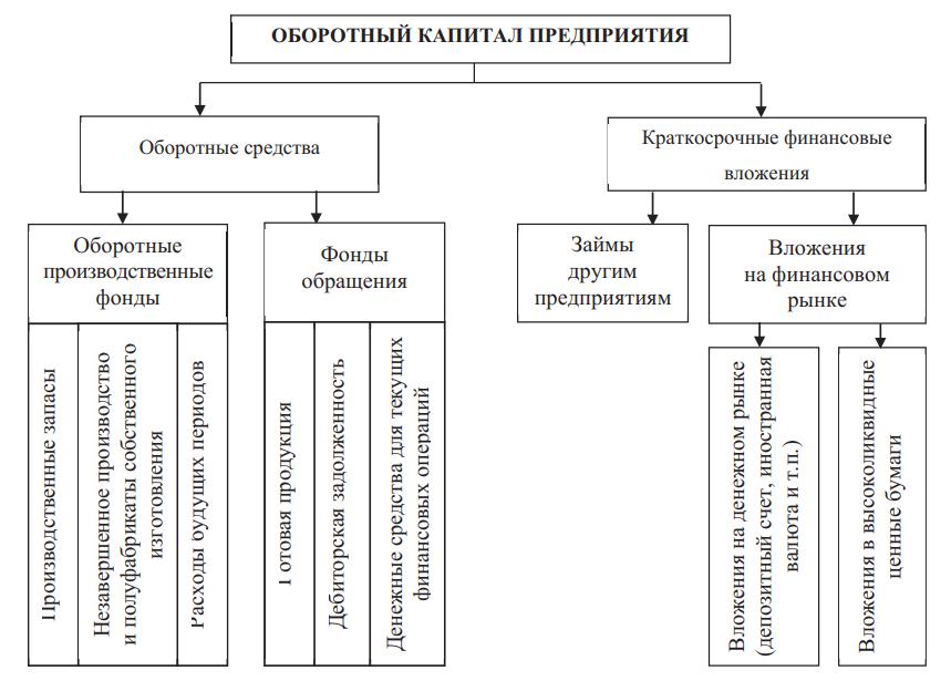Структура оборотного капитала предприятия