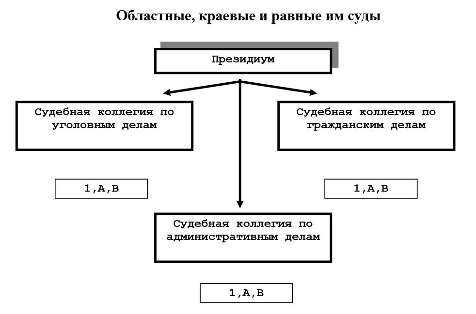 структурные подразделения, наделенные правом осуществления правосудия